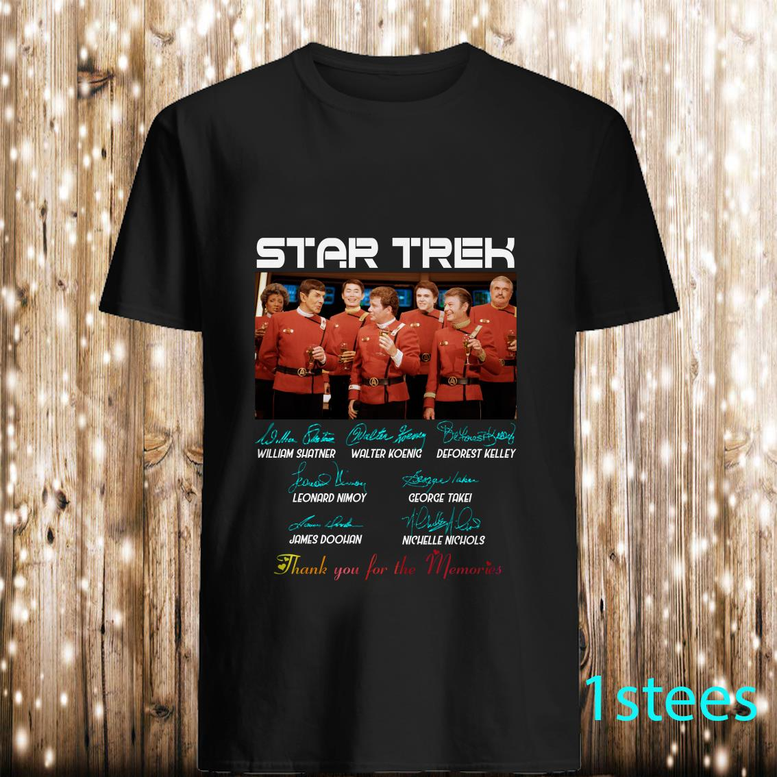 Star Trek Thank you for the memories signature shirt