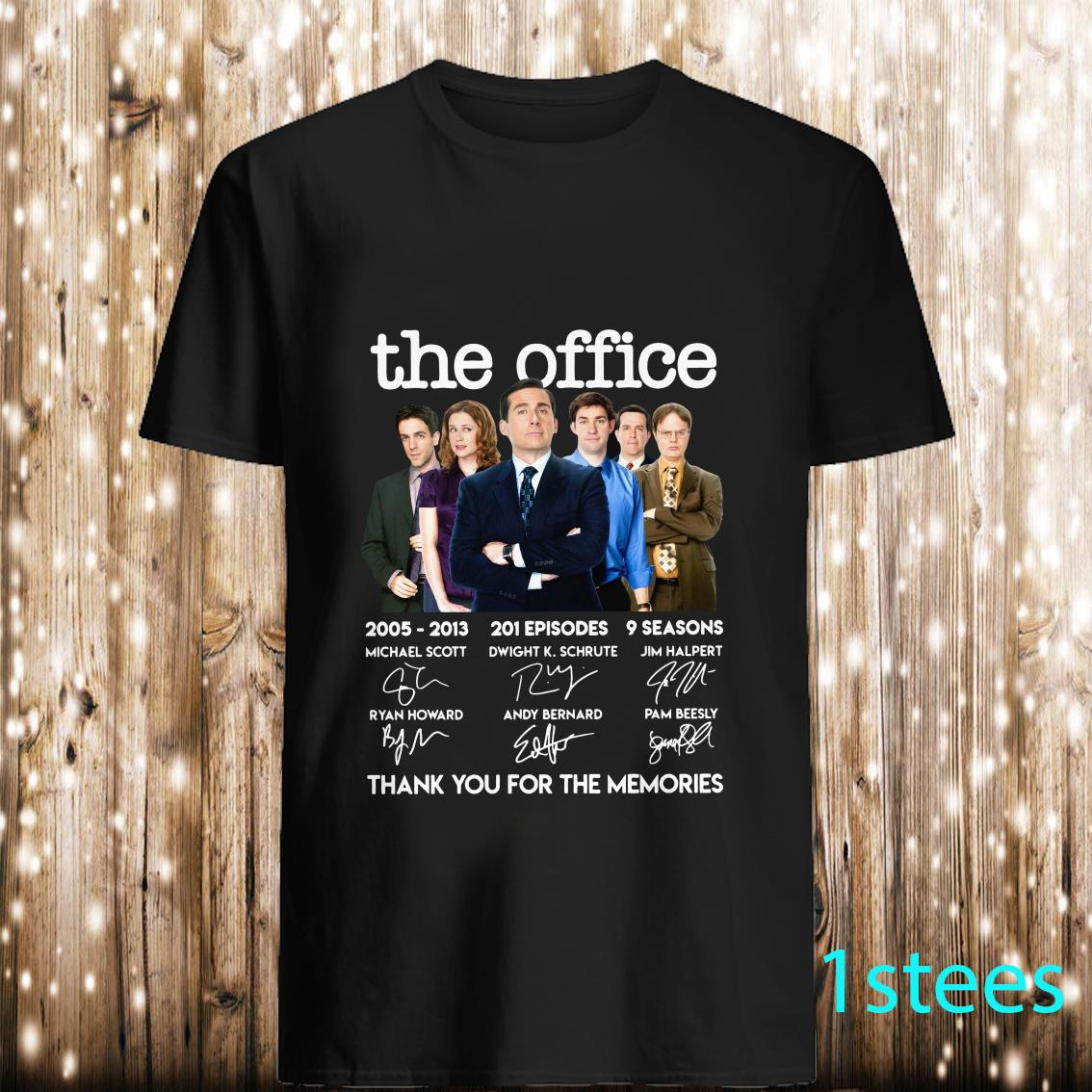 The Office Signature Thank You For The Memories Shirt