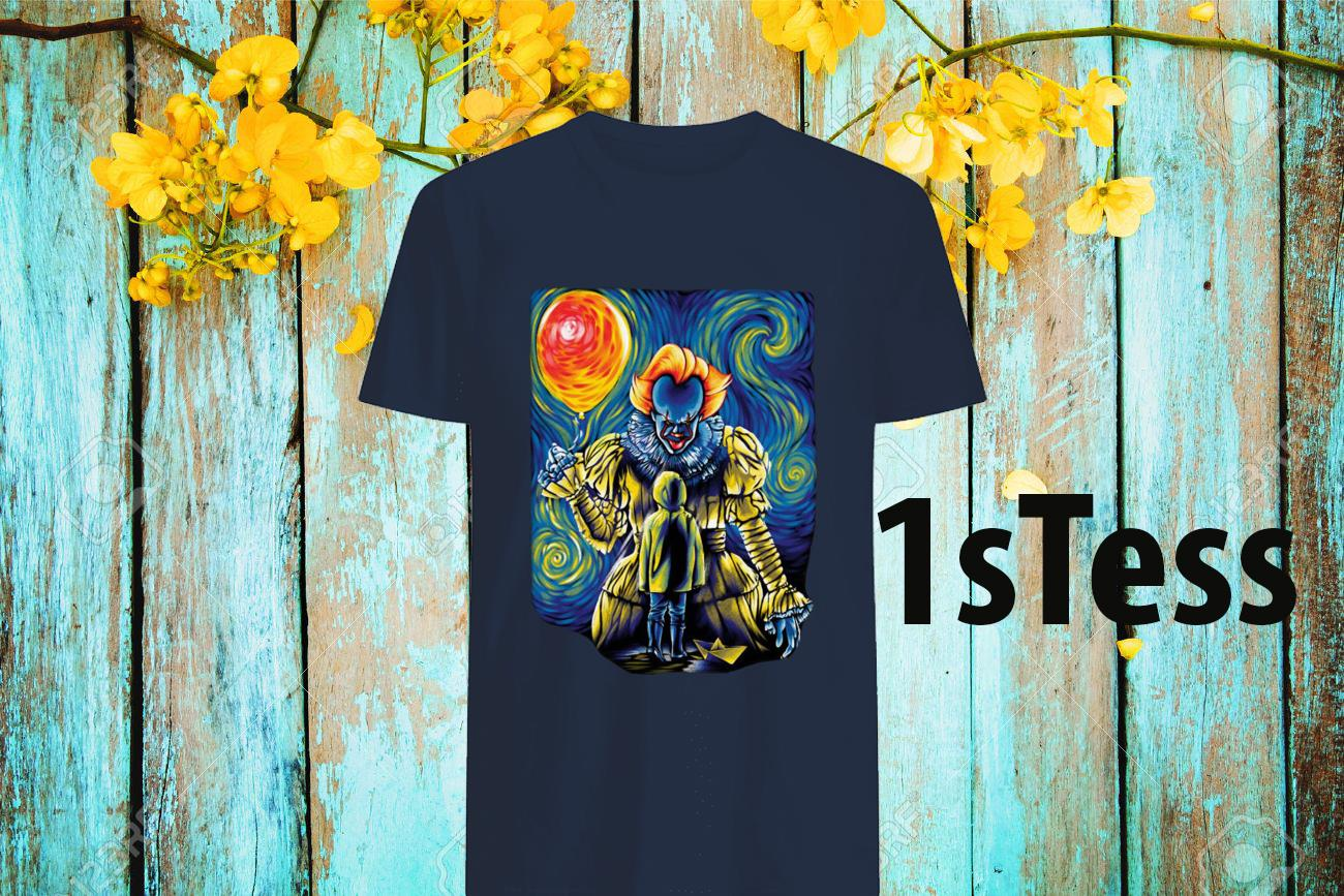 Stephen King's It Pennywise Starry Night Shirt