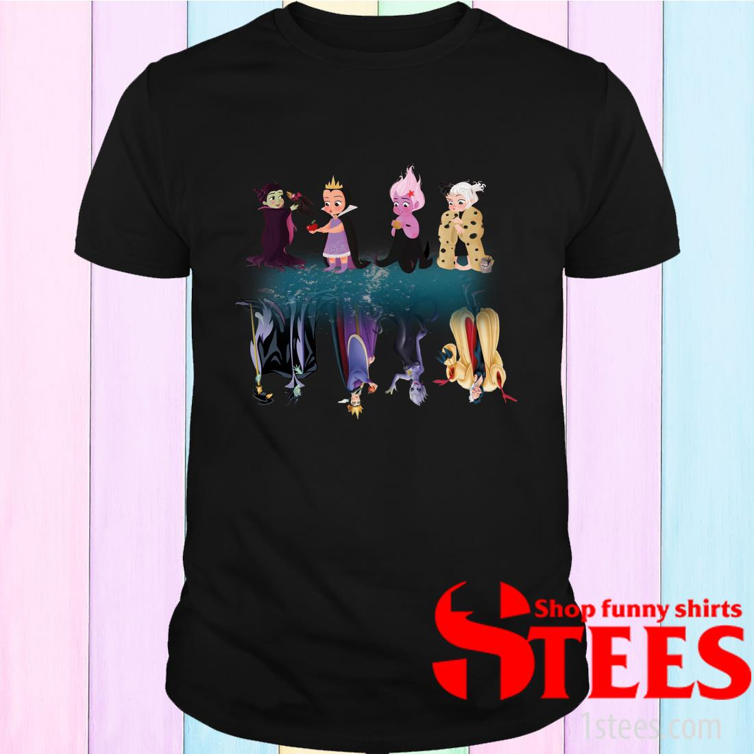 Maleficent Characters Water Mirror Shirt