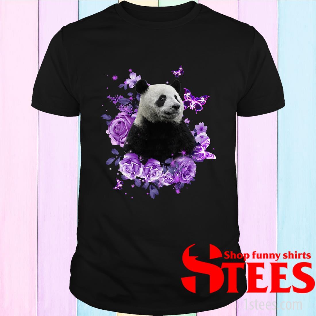 Panda Purple Flowers ShirtPanda Purple Flowers Shirt