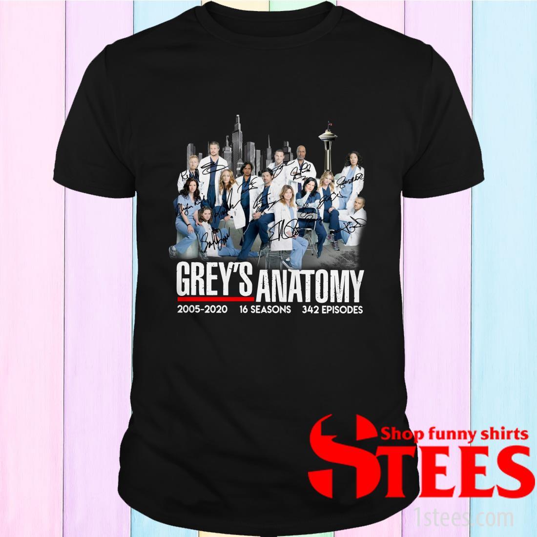 Grey's Anatomy 2005-2020 16 Seasons 342 Episodes Signature Shirt
