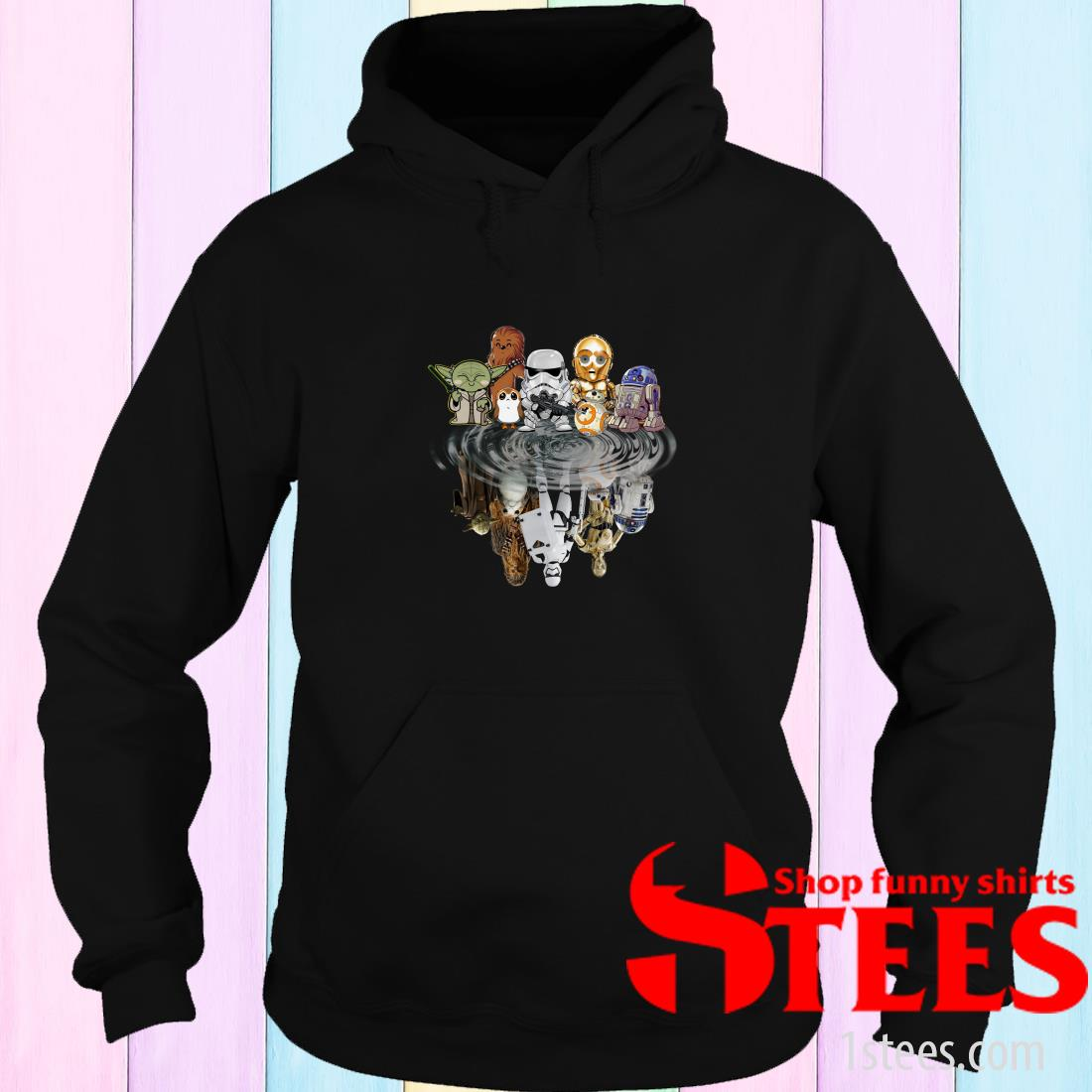 Star Wars Characters Chibi Water Mirror Reflection Shirt
