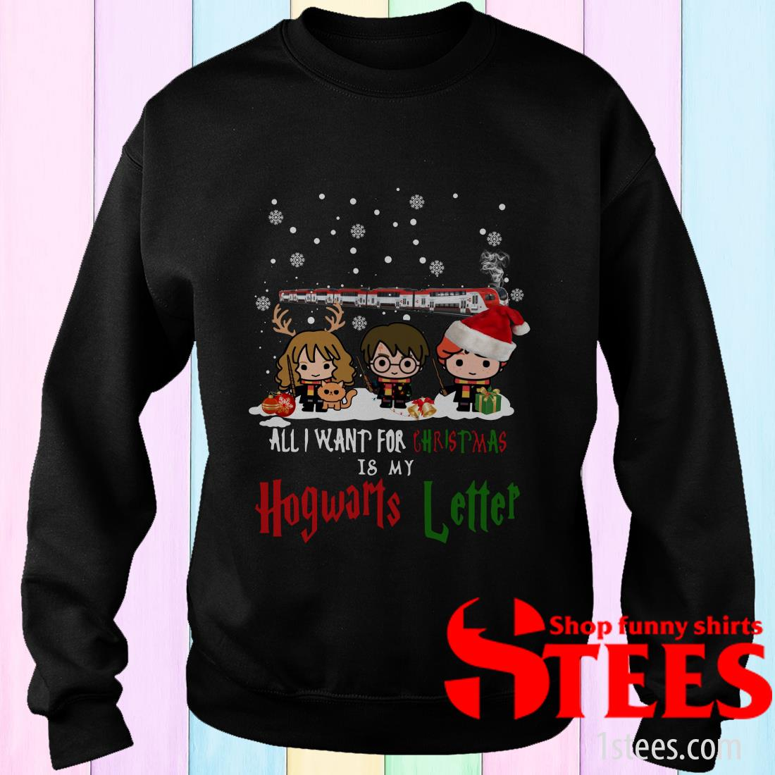 Harry Potter Hermione And Son All I Want For Christmas Is My Hogwarts Letter Sweatshirt