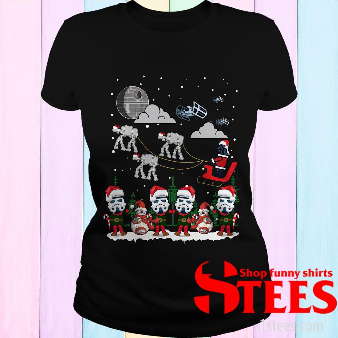 Santa Darth Vader Star Wars Stormtrooper Ugly Christmas Sweatshirt
