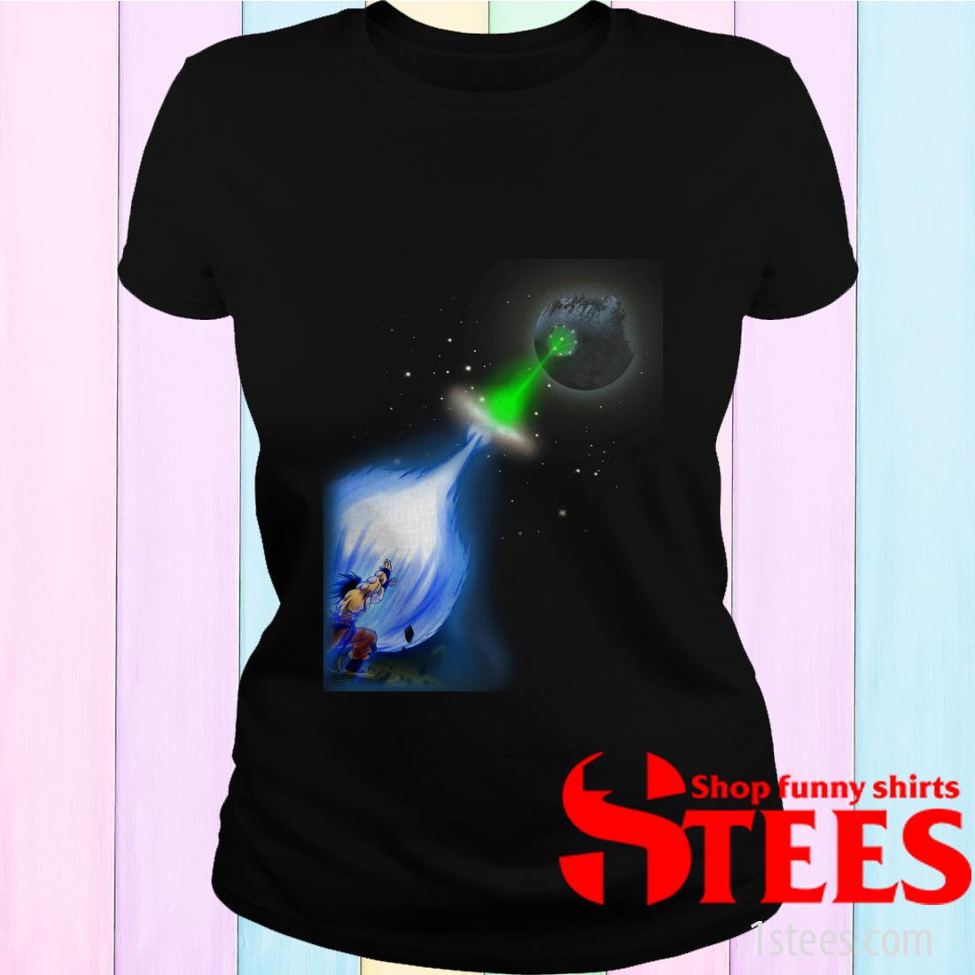 Kamehameha Goku Vs Death Star Superlaser Shirt