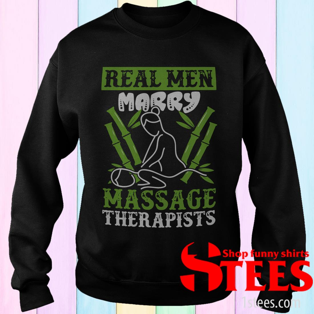 Real Men Marry Massage Therapy Therapist Professional Massaging Reflexology Shirt