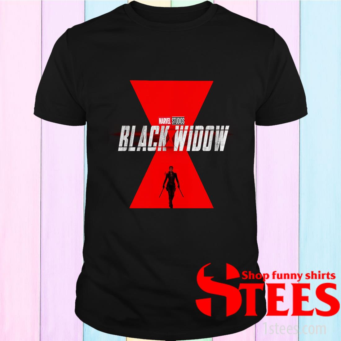 Marvel Black Widow Starring Scarlett Johansson Shirt