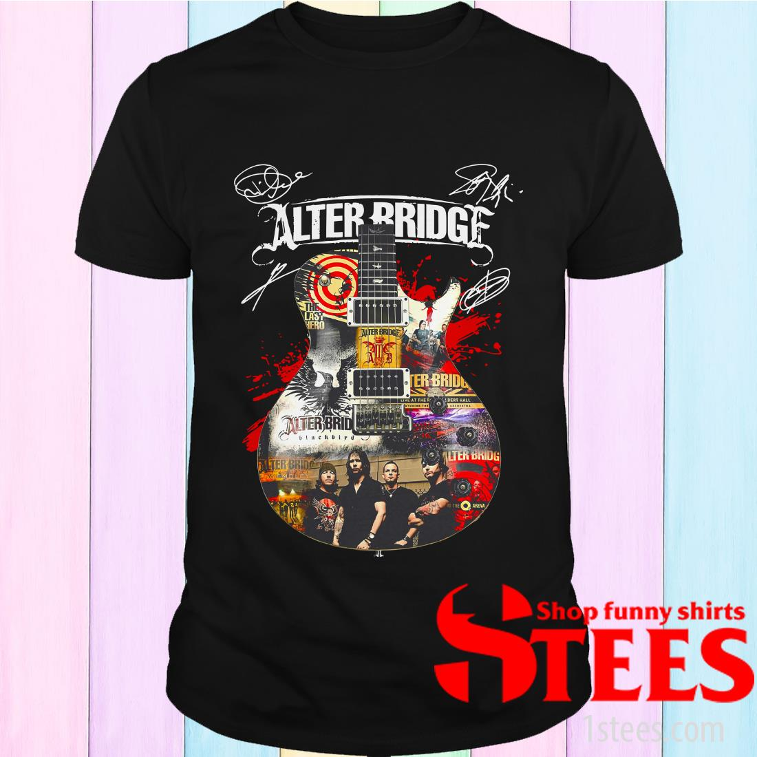 Alter Bridge Guitar Signatures Shirt