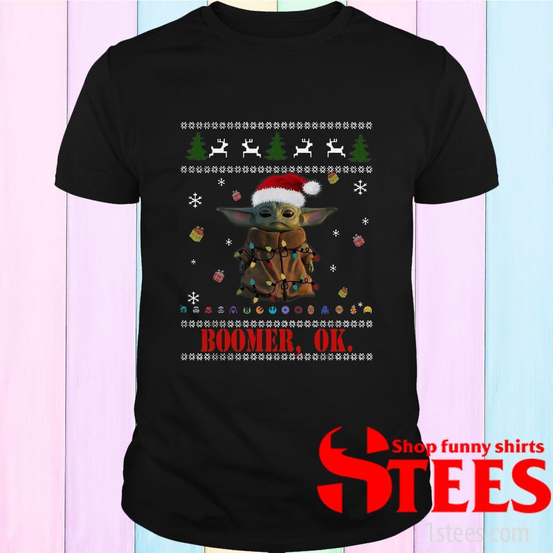 The Mandalorian Baby Yoda Boomer Ok ugly Christmas Sweatshirt