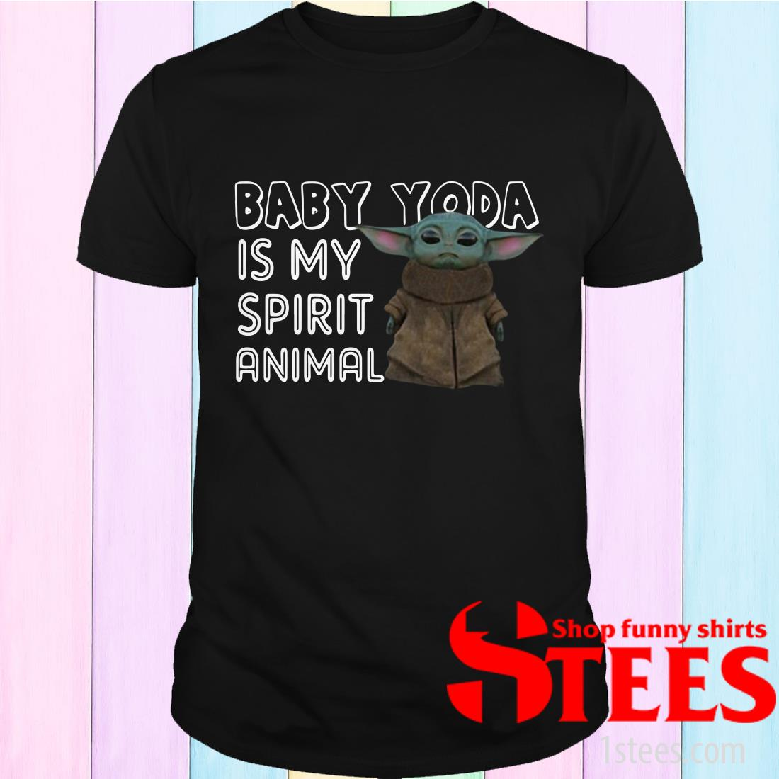 Baby Yoda Is My Sprit Anmal Shirt