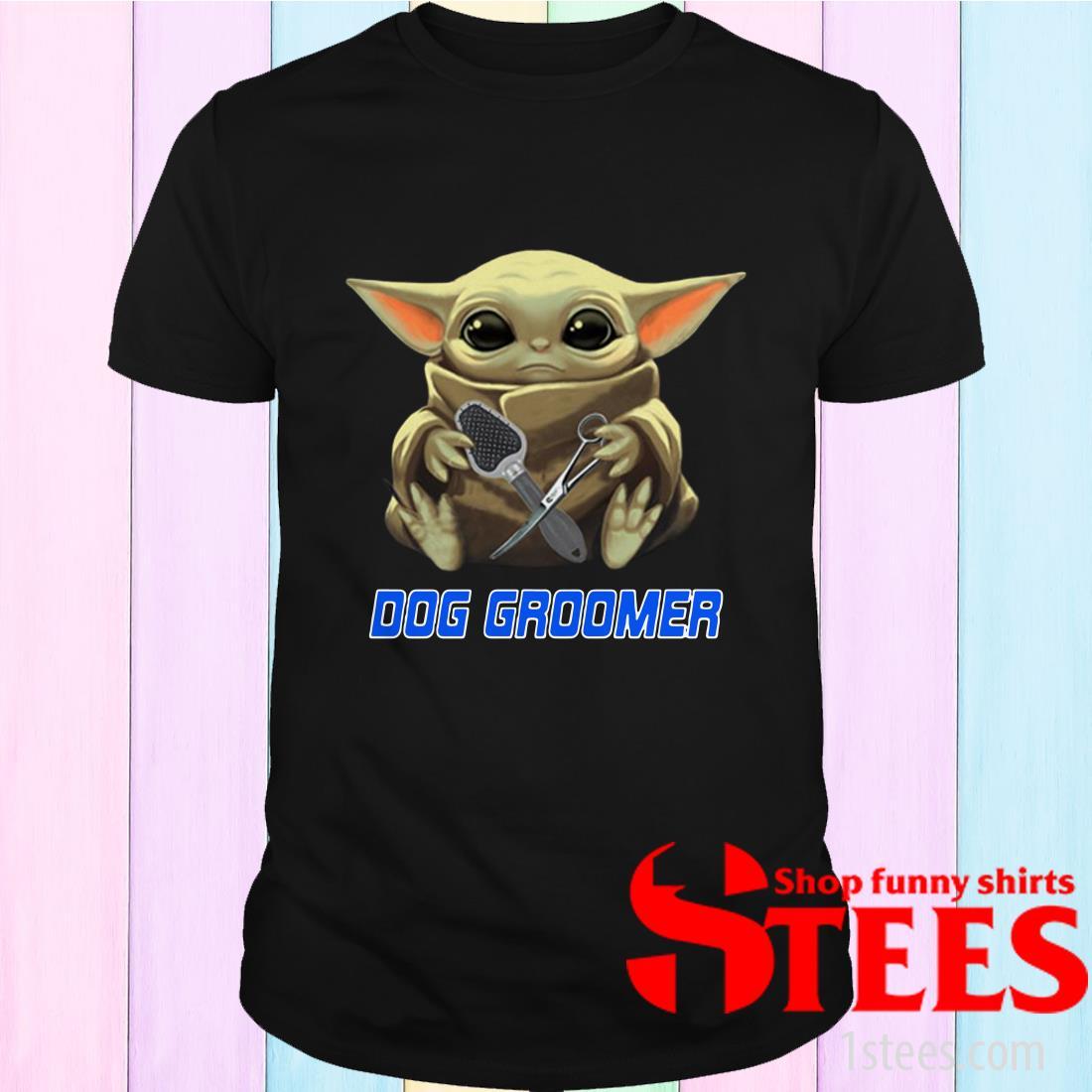 Star Wars Baby Yoda Hug Groomer Shirt