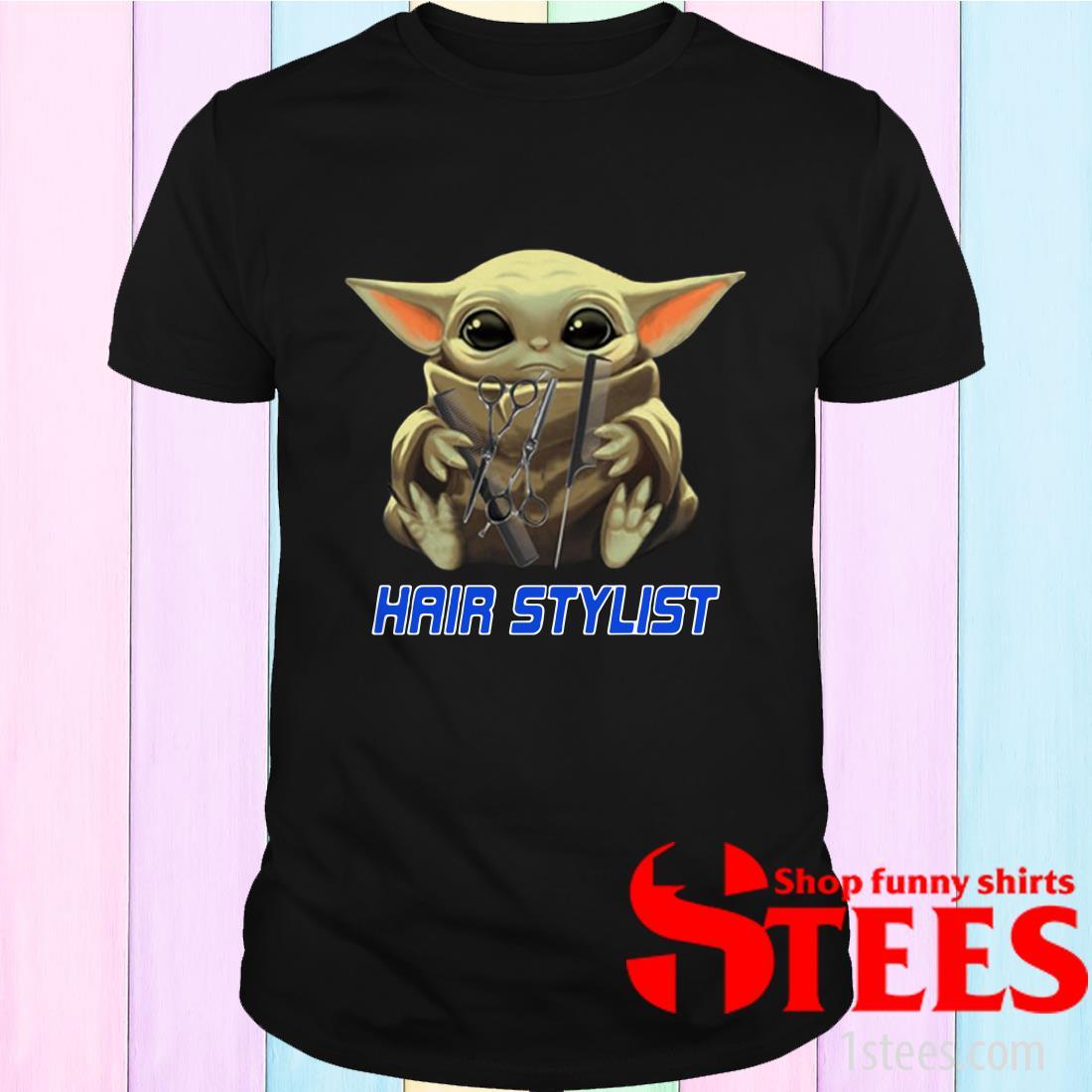 Star Wars Baby Yoda Hug Hair Stylist Shirt