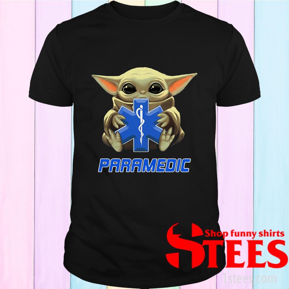 Star Wars Baby Yoda Hug Paramedic Shirt