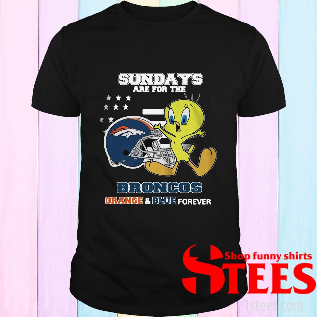 Sundays Are The Broncos Orange And Blue Forever Veteran Shirt