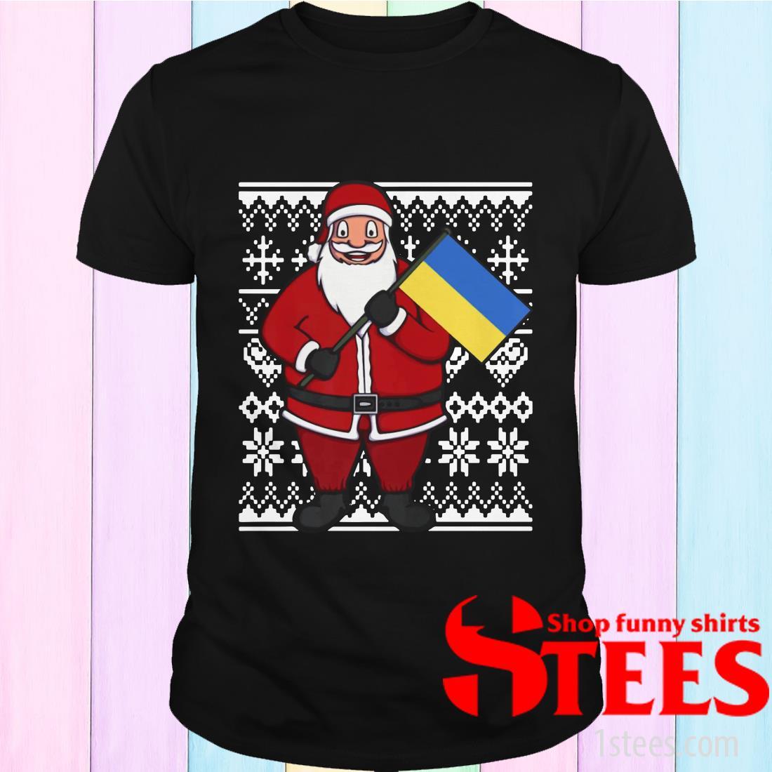 Ukraine Flag Santa Ukrainian Ugly Christmas Sweatshirt