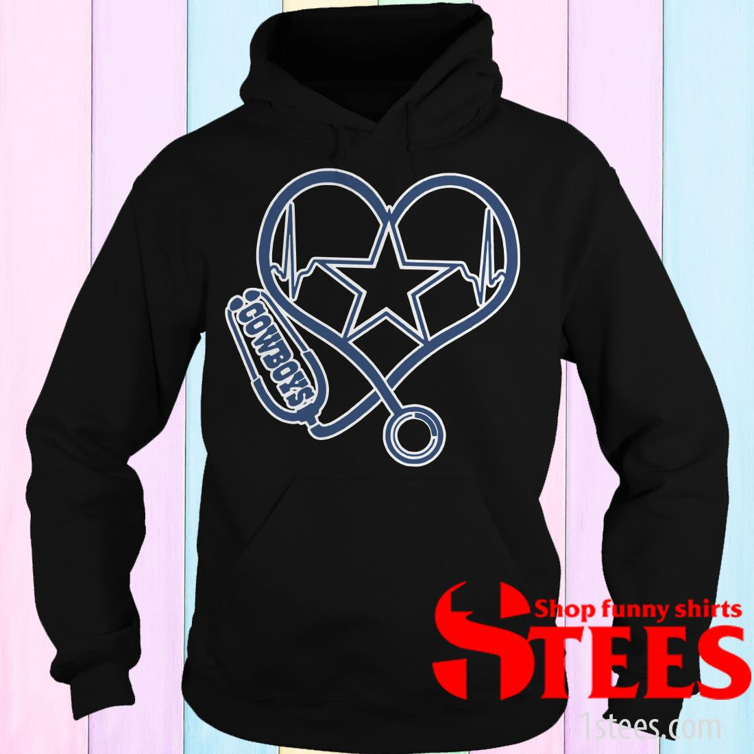 Heartbeat Nurse Love Dallas Cowboys Shirt