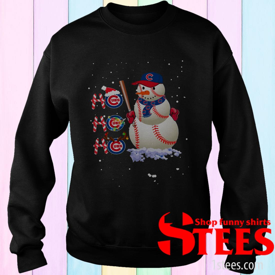 Ho Ho Ho Chicago Cubs Christmas Sweatshirt