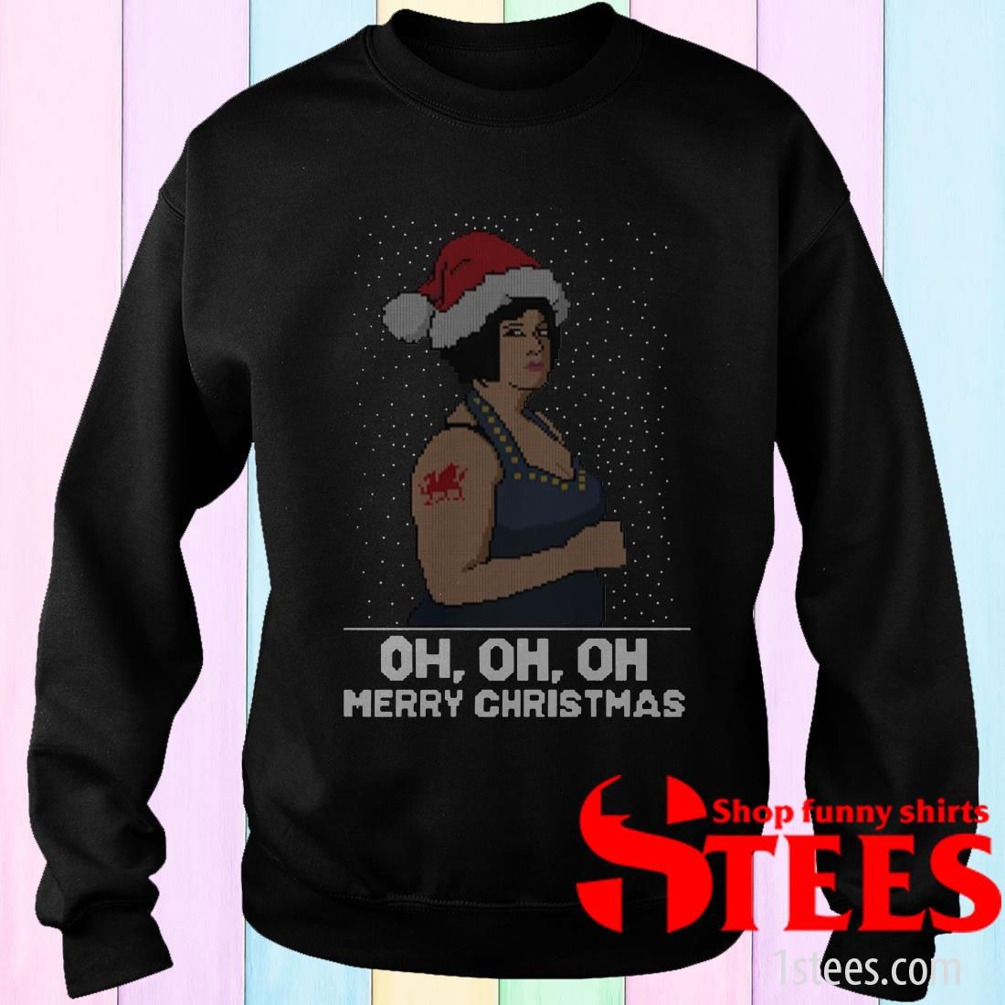 Nessa Jenkins Oh oh oh Merry Christmas Ugly Sweatshirt