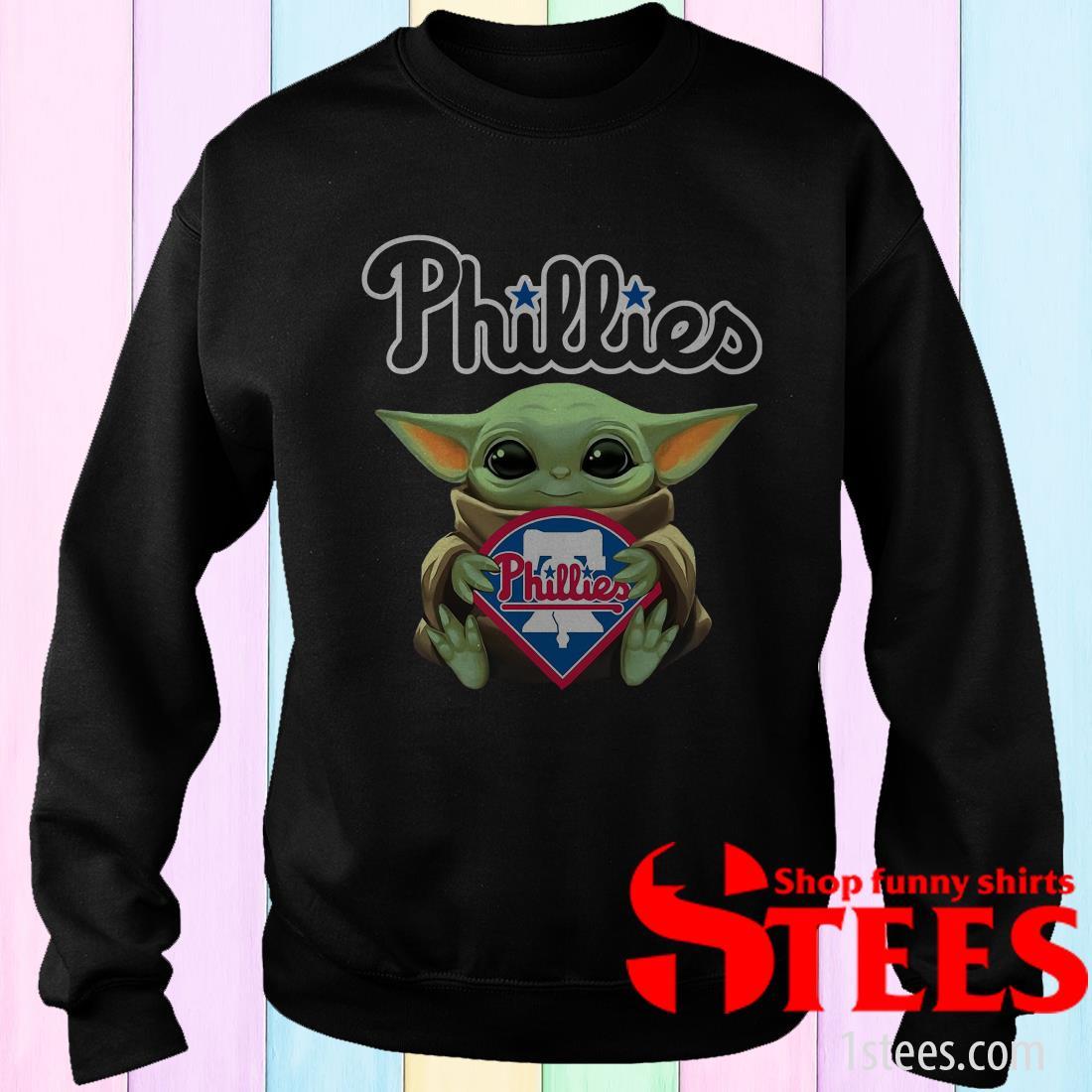 Baby Yoda Philadelphia Phillies Shirt