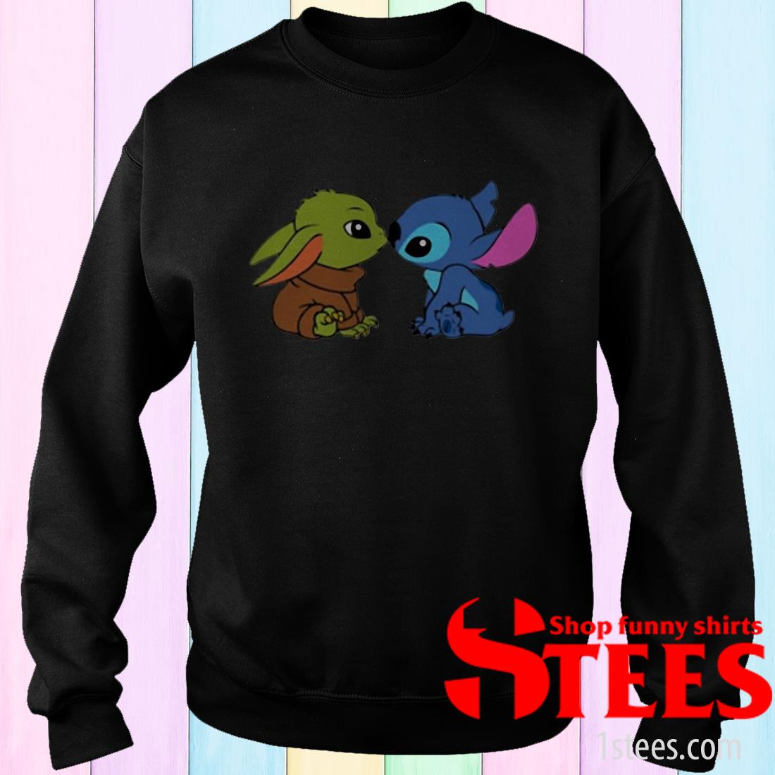 Baby Yoda And Baby Stitch SweatshirtYoda And Baby Stitch Shirt
