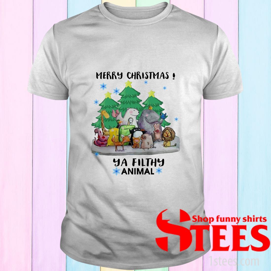 Merry Christmas Animal Hooded Sweatshirt