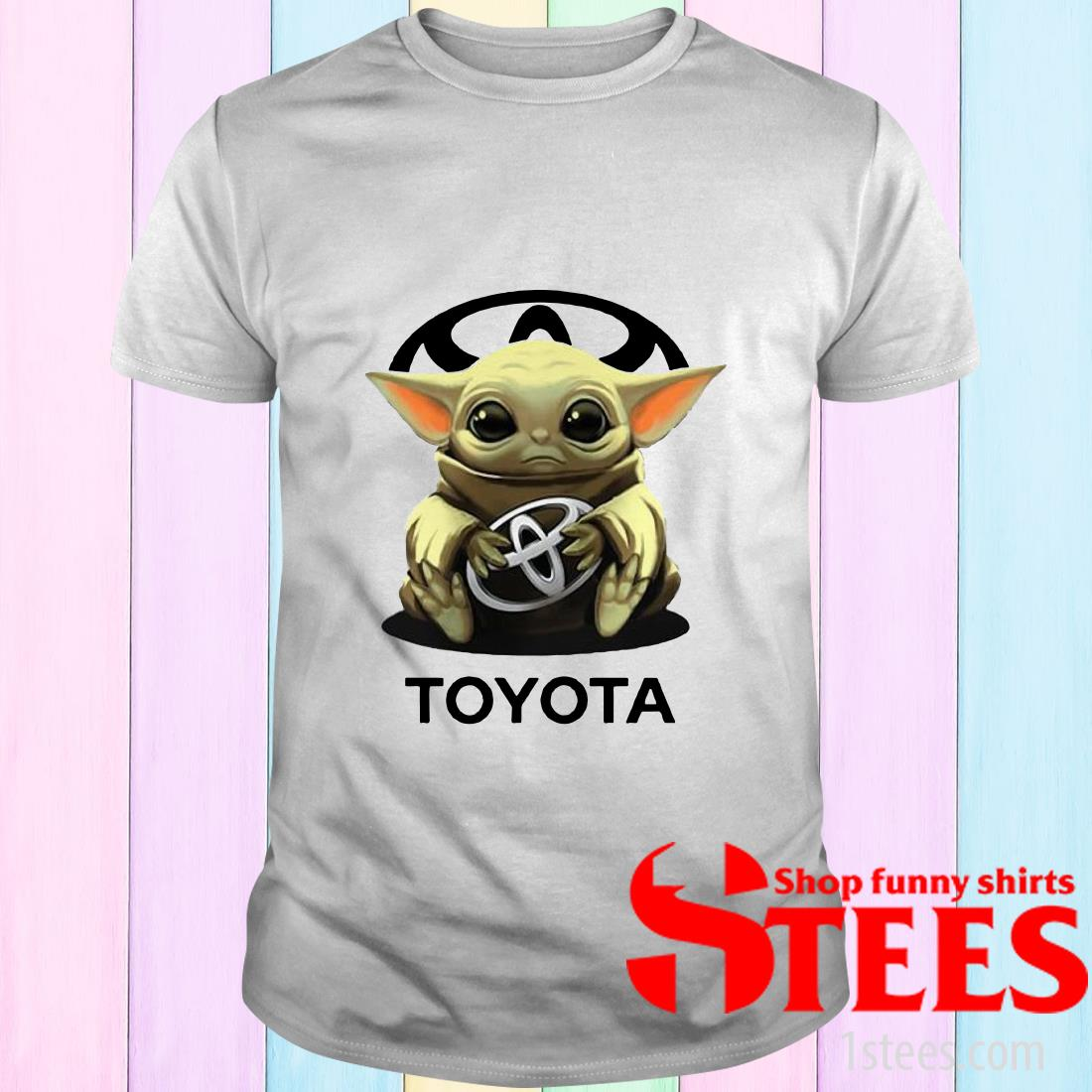 Baby Yoda Hug Toyota Tee Shirt