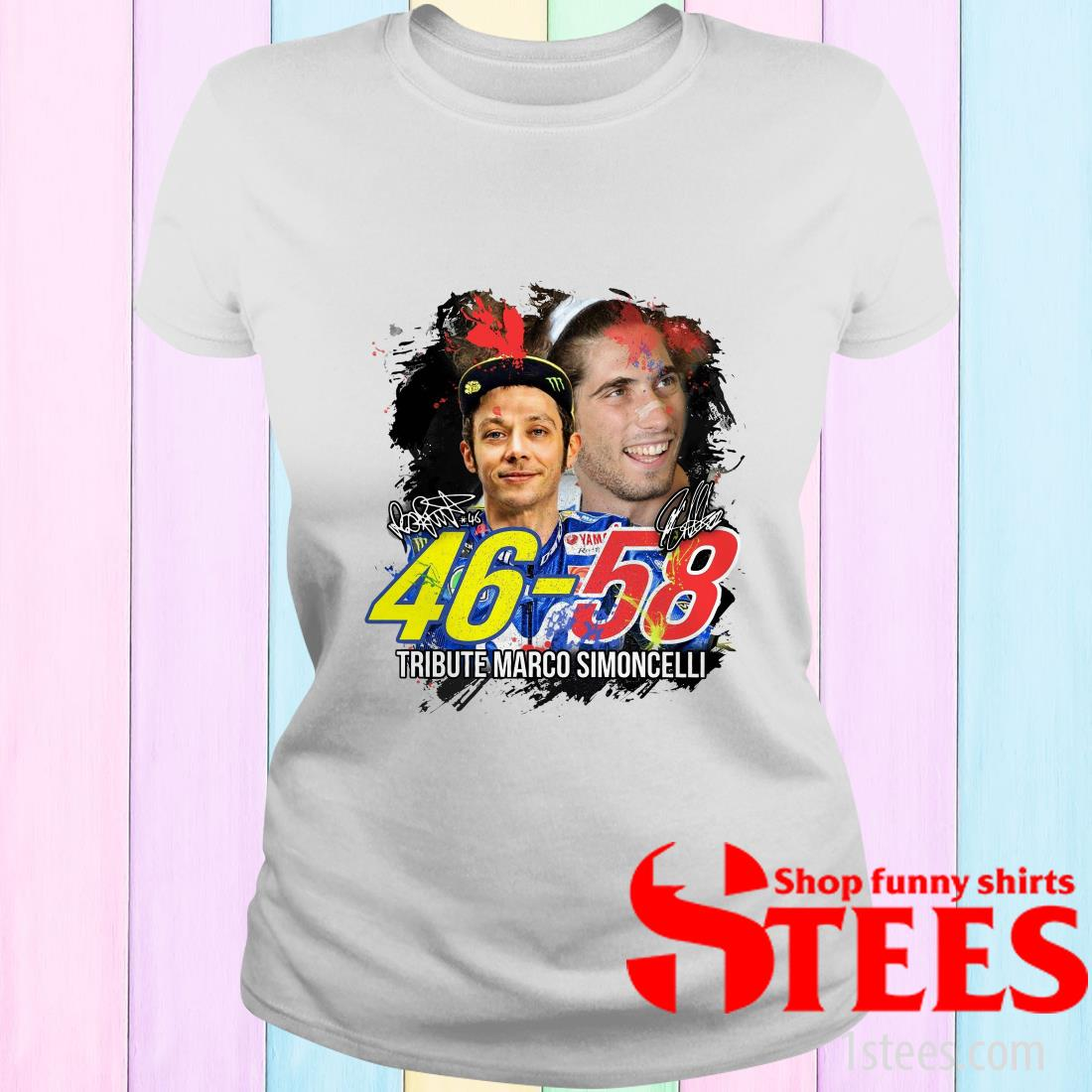 46-58 Tribute Marco Simoncelli Signature Shirt