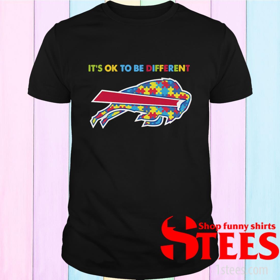 Autism Awareness It's Ok To Be Different Buffalo Bills Shirt