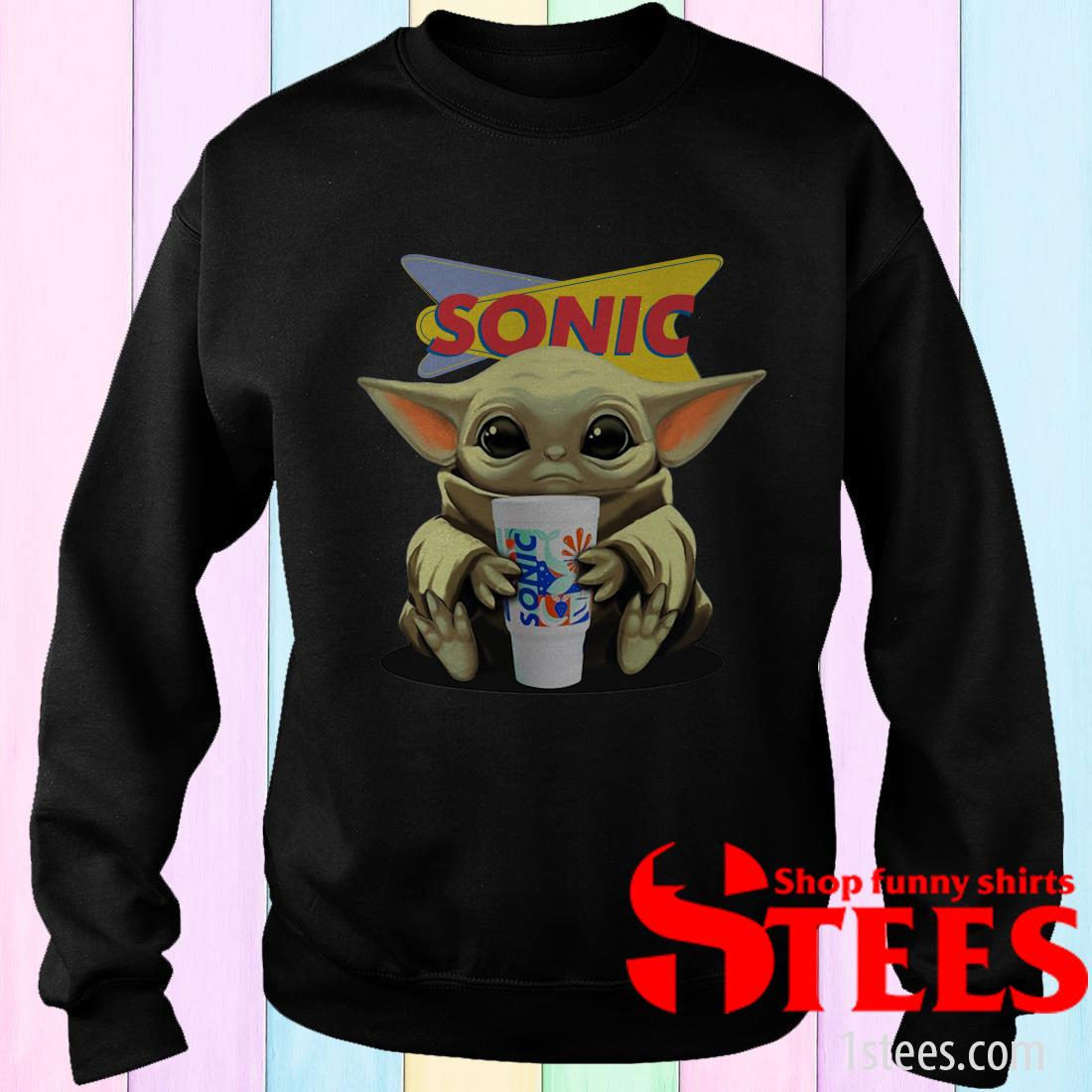Baby Yoda Hug Sonic Shirt