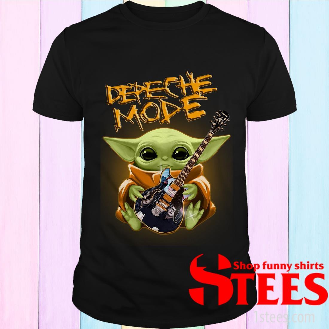 Baby Yoda Hug Depeche Mode Guitar Shirt