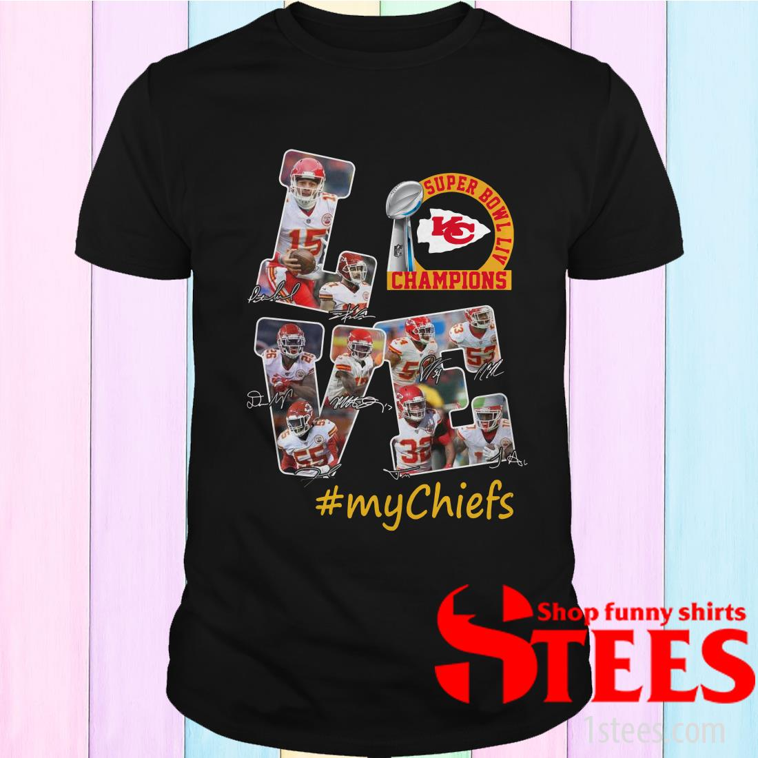 Super Bowl LIV Champions Love #My Chiefs Signature Shirt