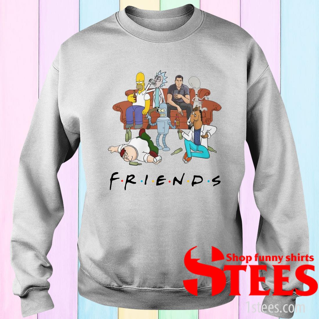 Sterling Archer Rick And Morty Drink Friends Sweatshirt