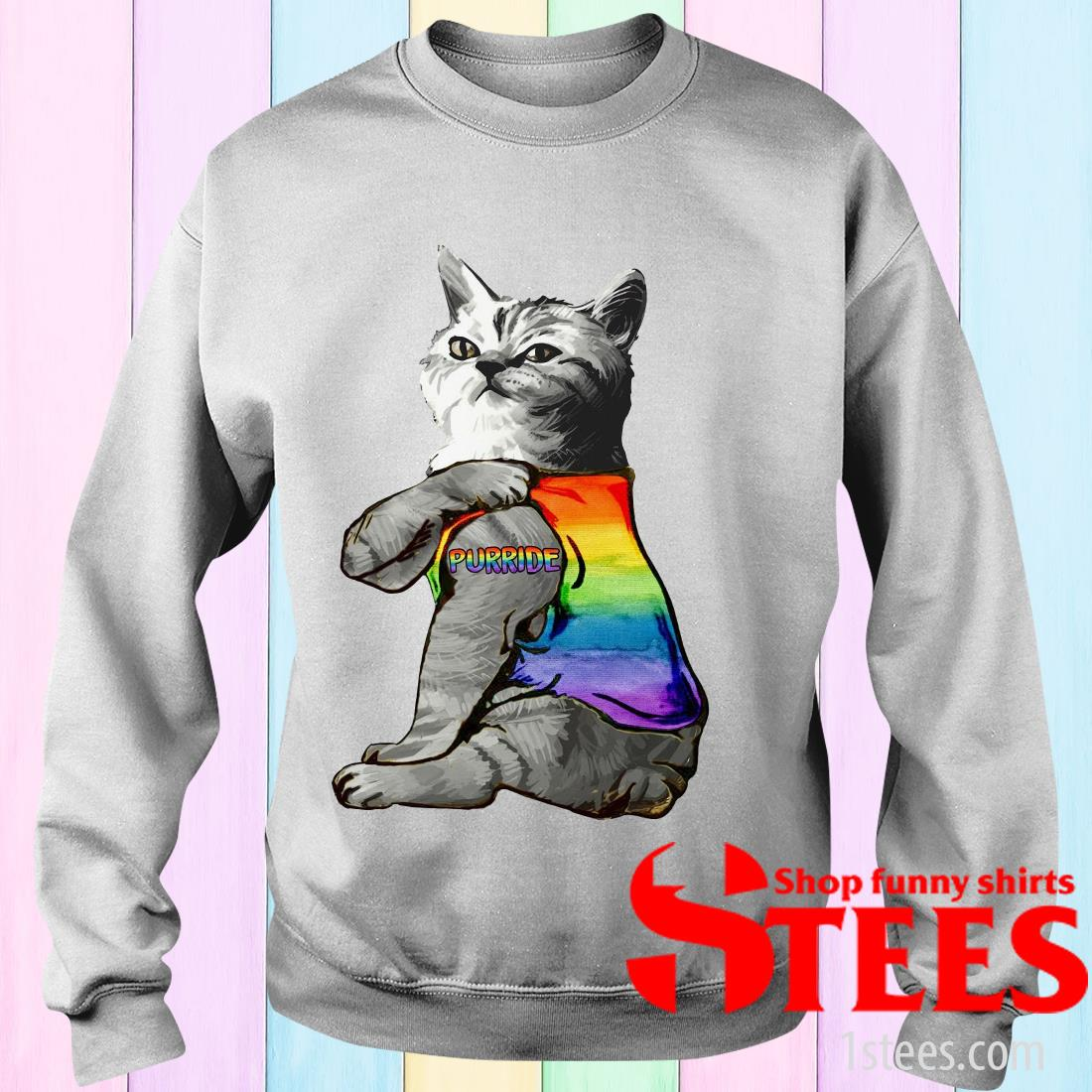 Cat Tattoo Purride LGBT Sweatshirt