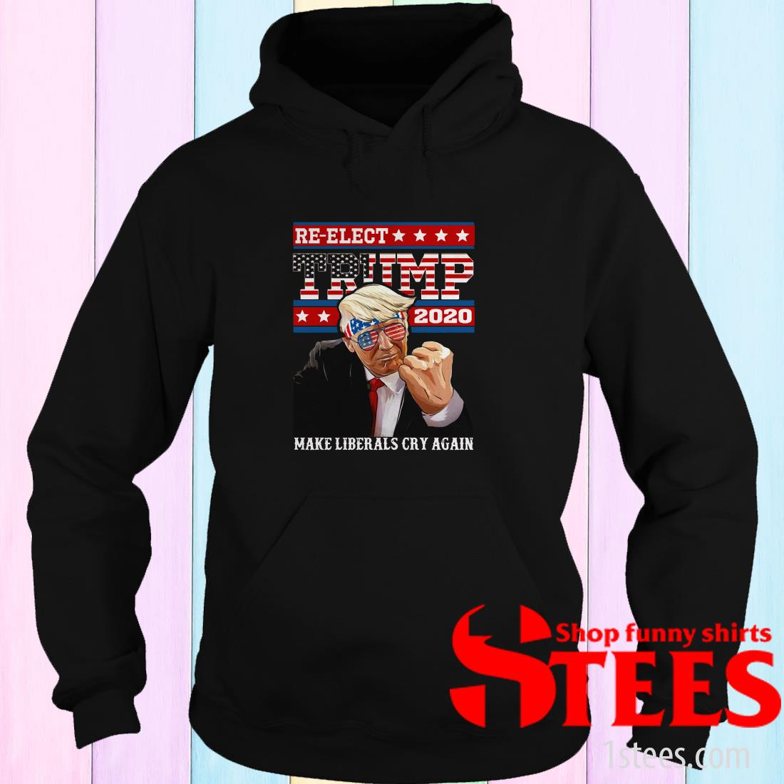 Re elect Trump 2020 Make Liberals Cry Again Hoodie