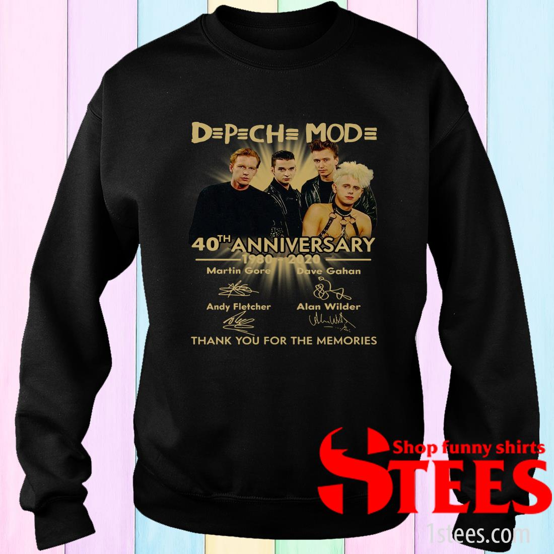 Depeche Mode 40th Anniversary 1980-2020 Signatures Sweatshirt