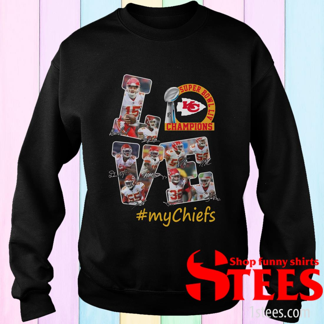 Super Bowl LIV Champions Love #My Chiefs Signature Sweatshirt
