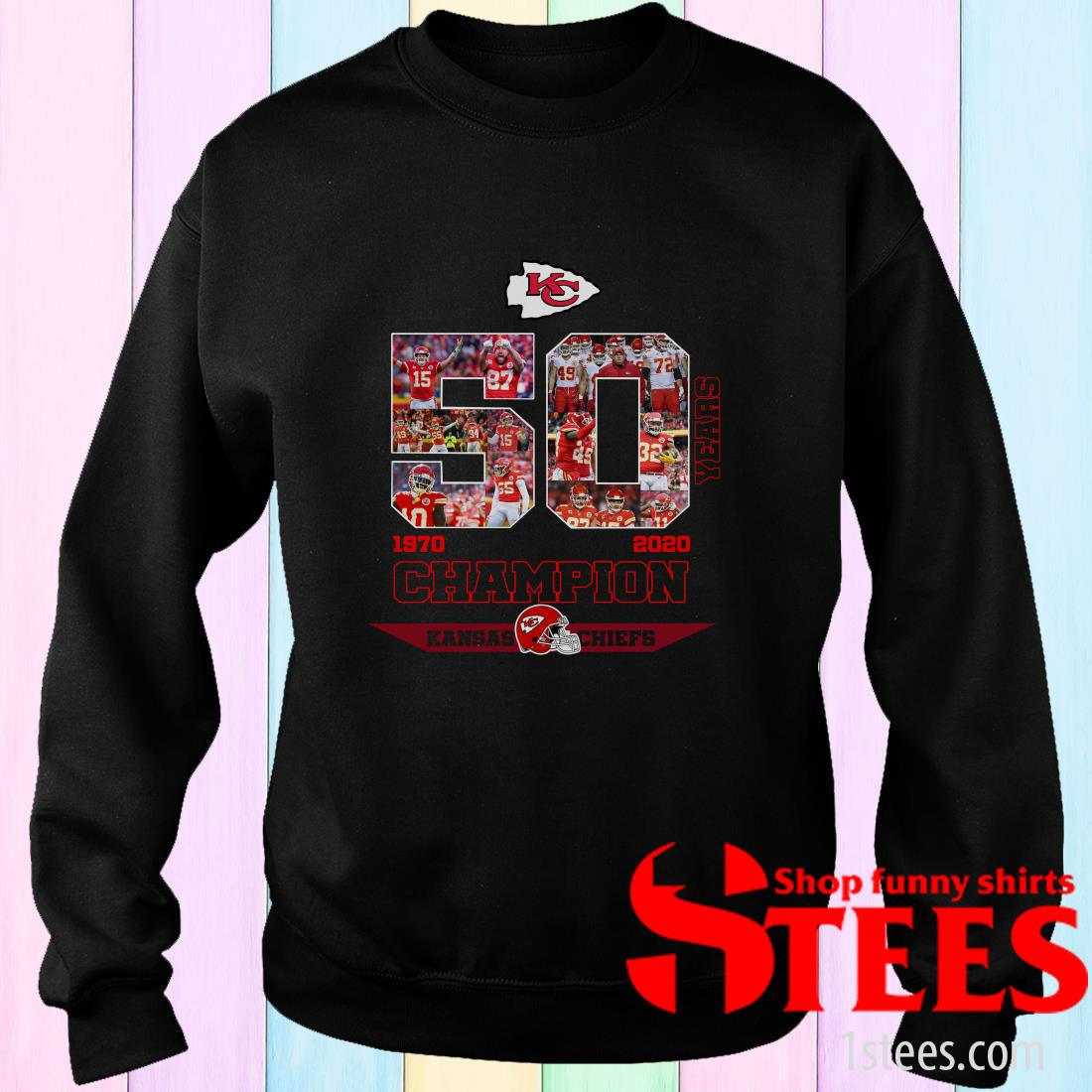 50 Years Of Kansas City Chiefs 1970 2020 Champion Sweatshirt