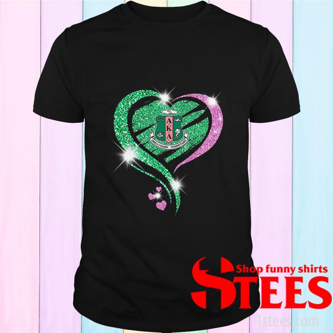 Alpha Kappa Alpha Heart Diamond Shirt
