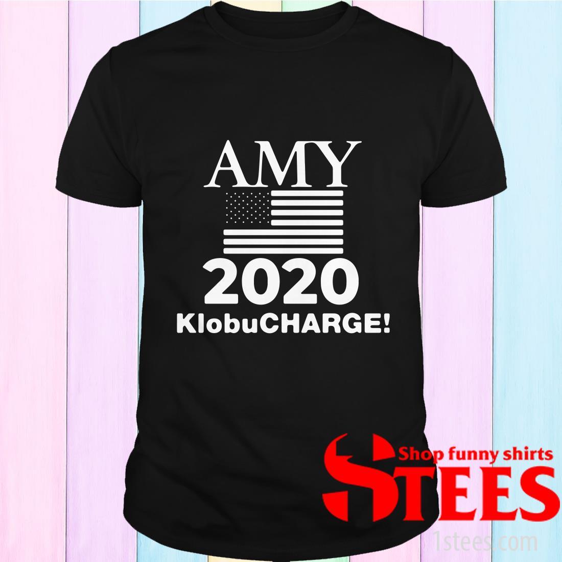 Klobucharge Amy Klobuchar 2020 President American Flag T-Shirt