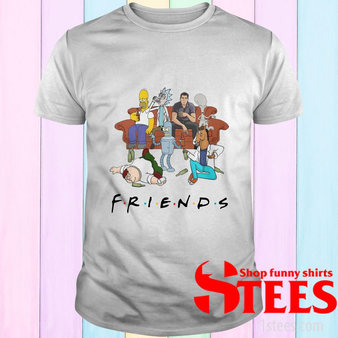Sterling Archer Rick And Morty Drink Friends Shirt