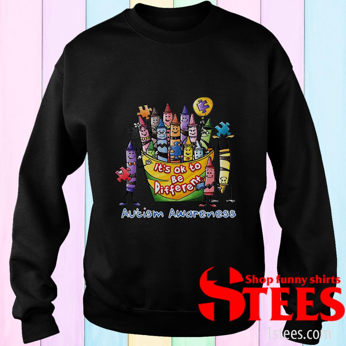 It's Ok To Be Diferent Autism Awareness Sweater