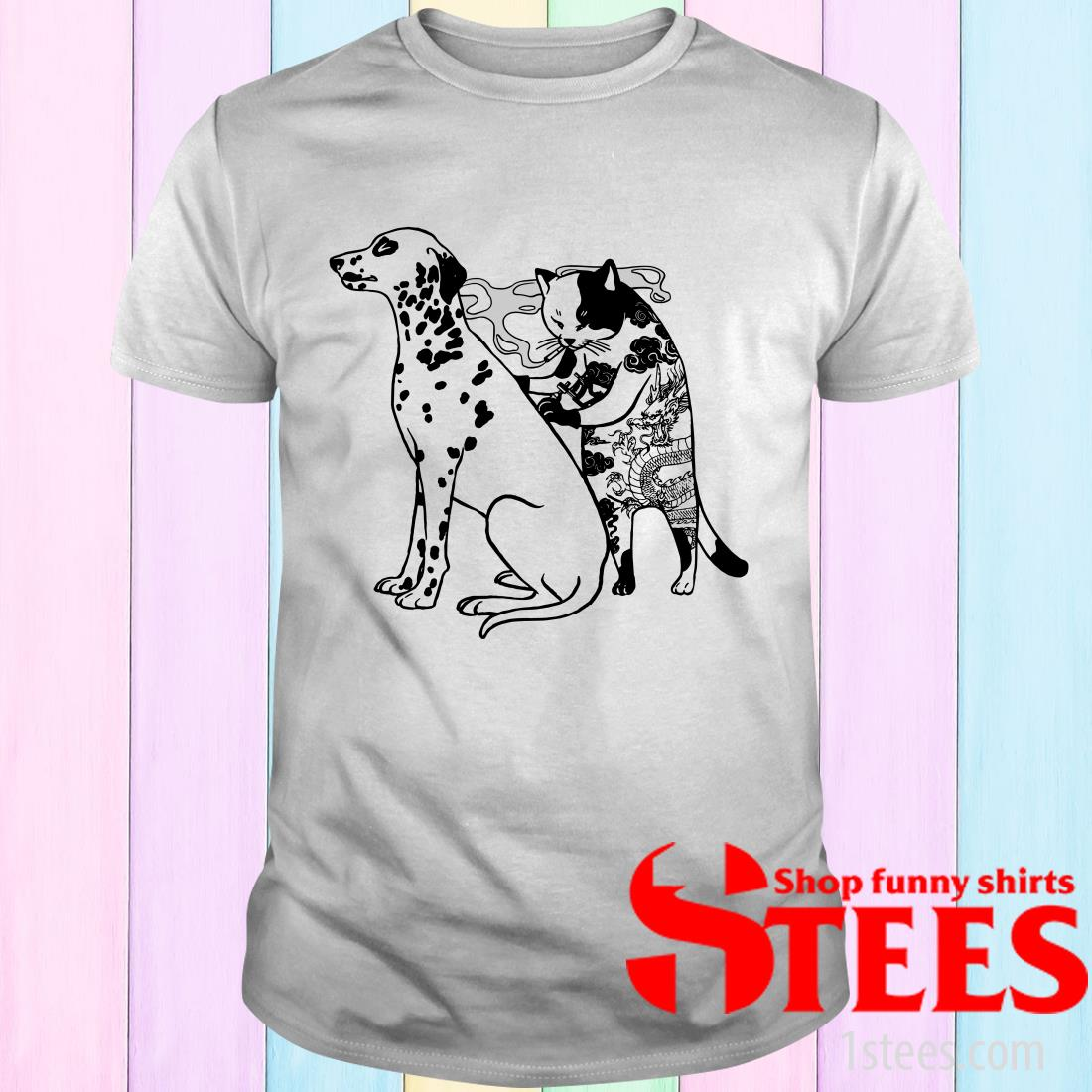 Cat And Dog Tattoo Shirt