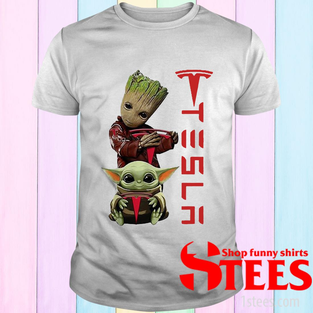 Be Who You are and Say What You Feel Baby-Groot Baby-Yoda Autism Awareness T-Shirt