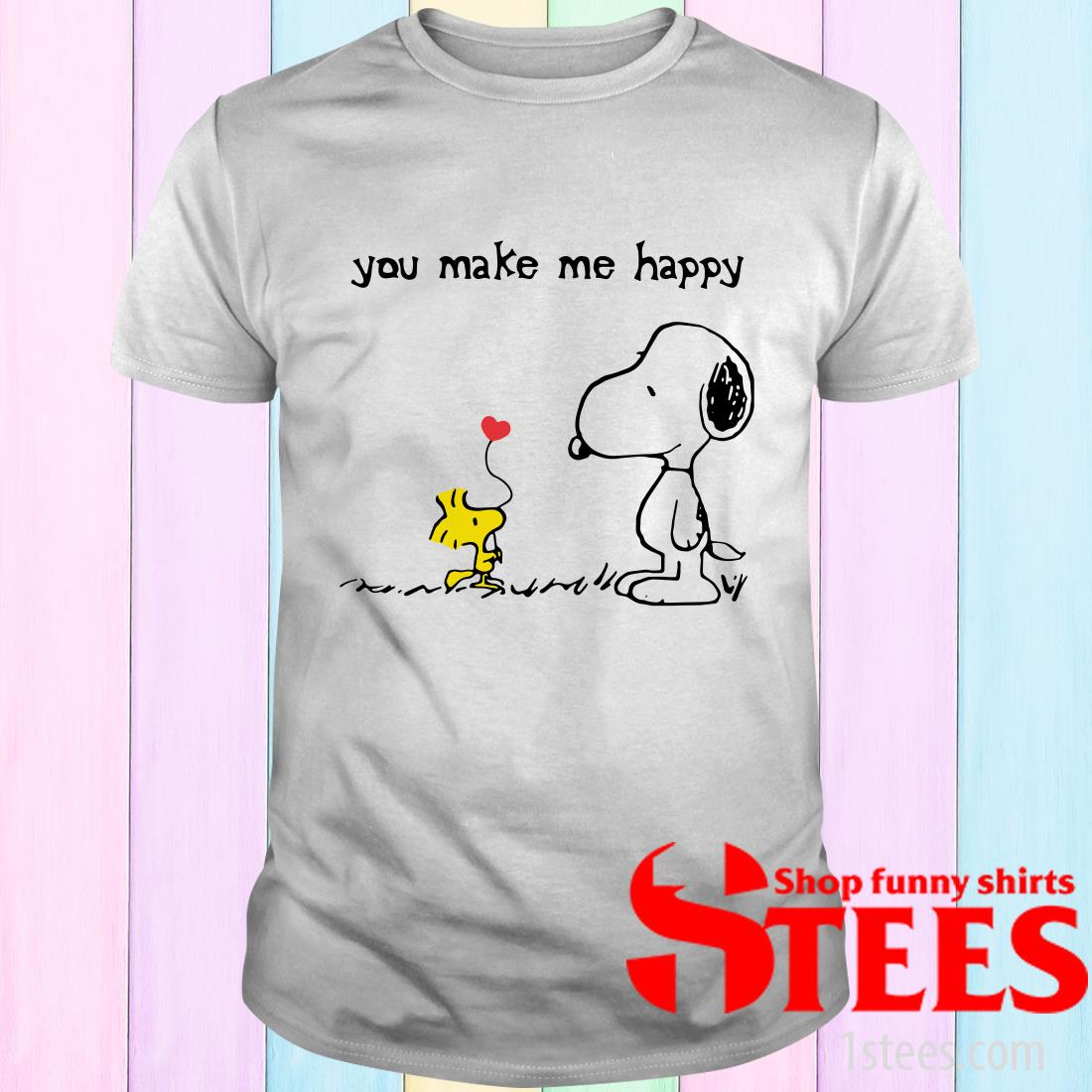 Snoopy Woodstock You Make Me Happy T-Shirt