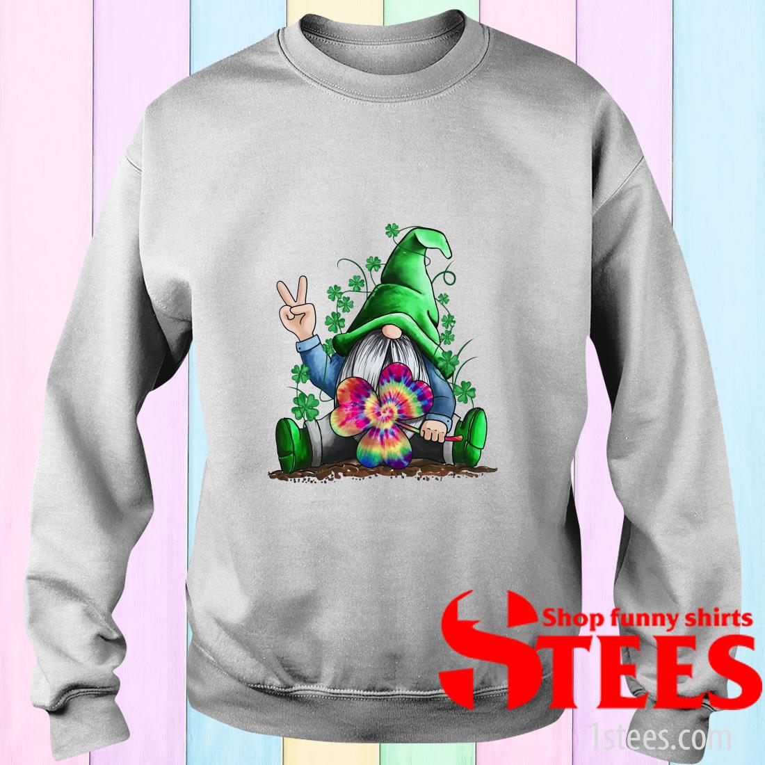 Hippie Gnome Happy St Patrick's Day Sweatshirt