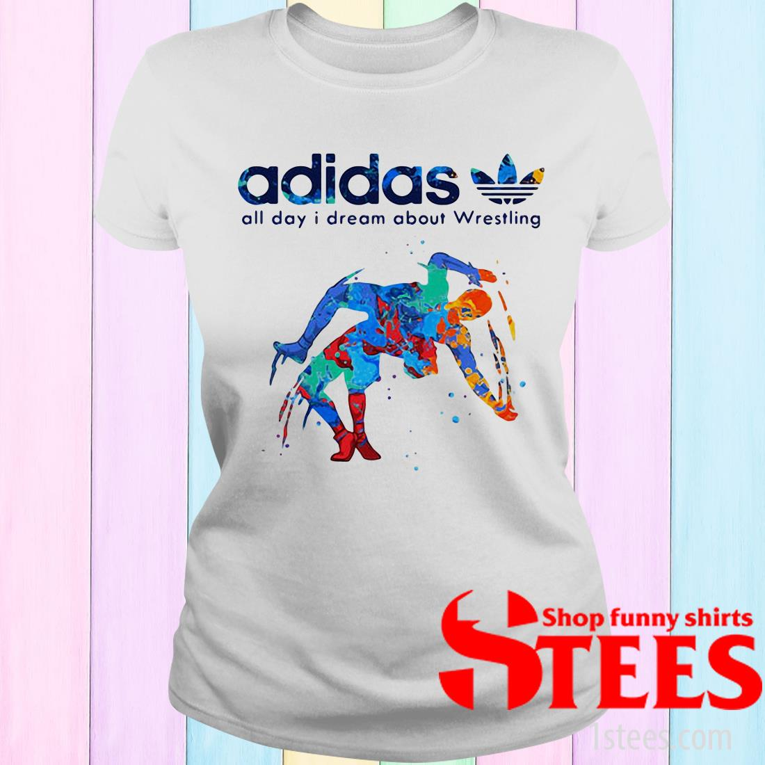 Adidas All Day I Dream About Wrestling Hot Women's T-Shirt