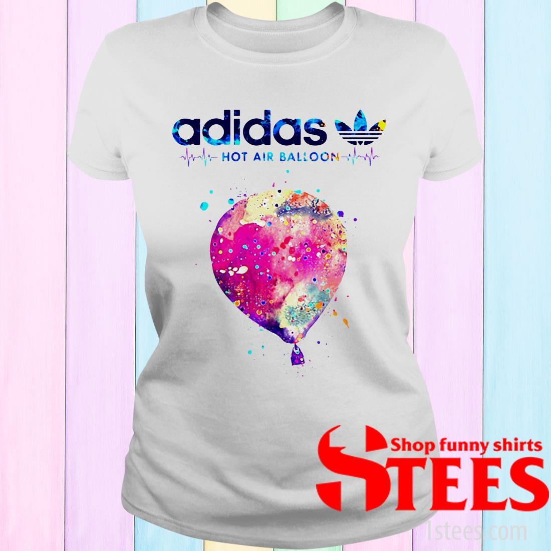 Adidas Logo Heartbeat Hot Air Balloon Women's T-Shirt