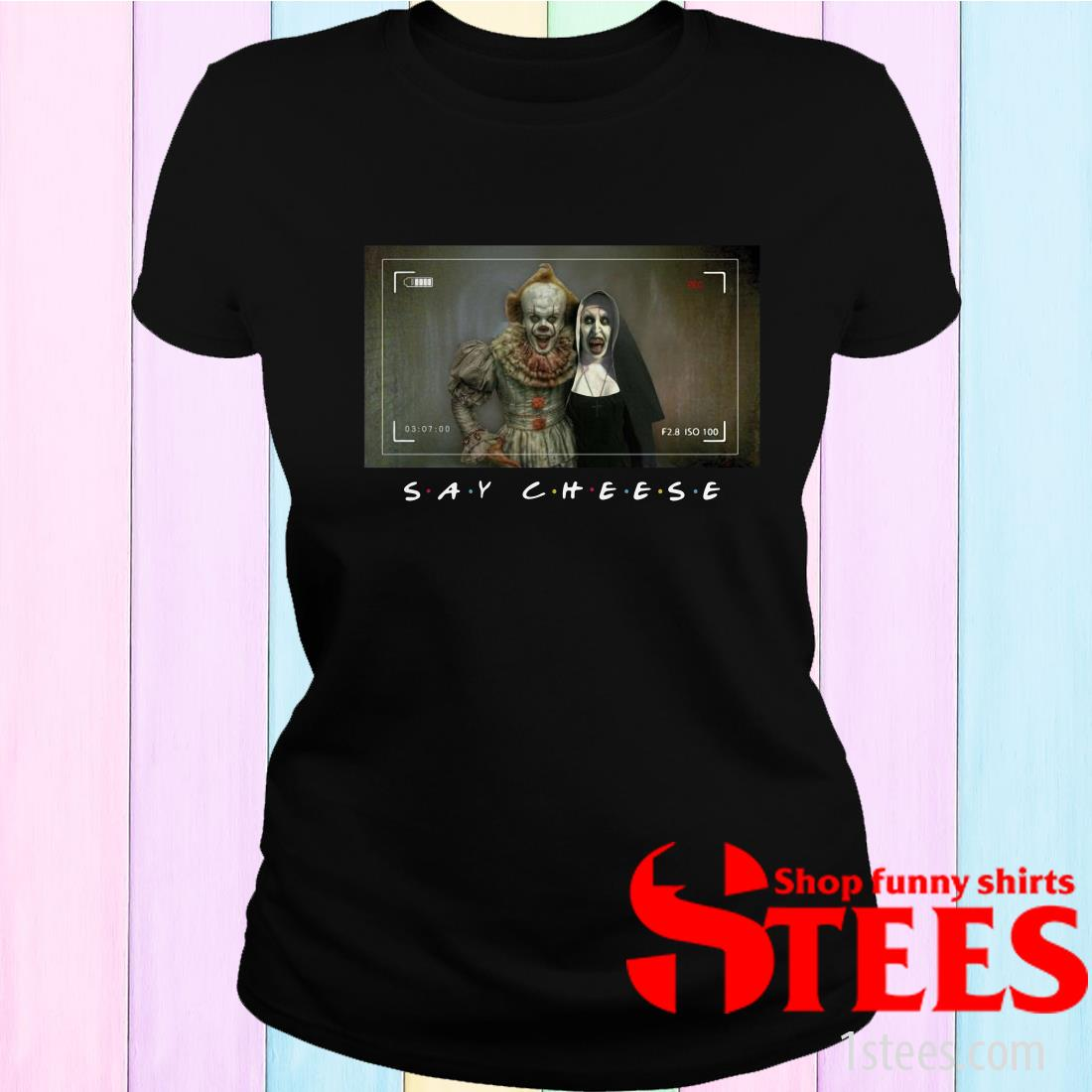 Valak And Pennywise Photo Say Cheese Friends Tv Show Women's T-Shirt