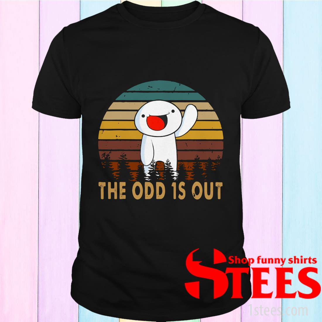 Vintage The Comics Distressed Odd Out Animation Shirt